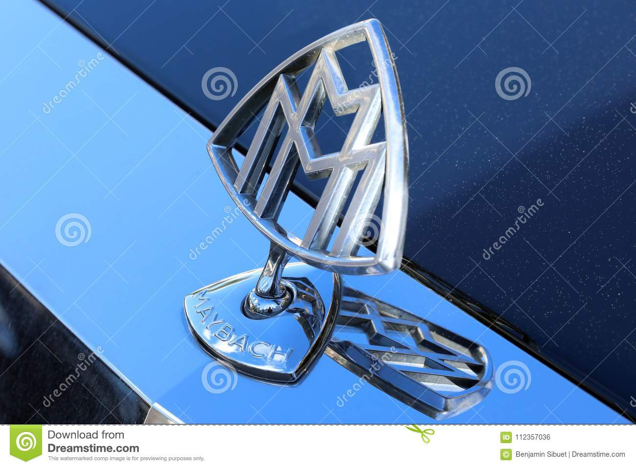 Maybach Hood Ornament Editorial Photo  Image Of Luxury