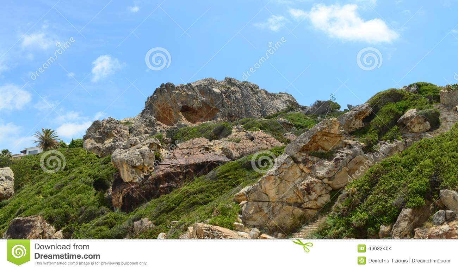Monte espanhol perto da praia