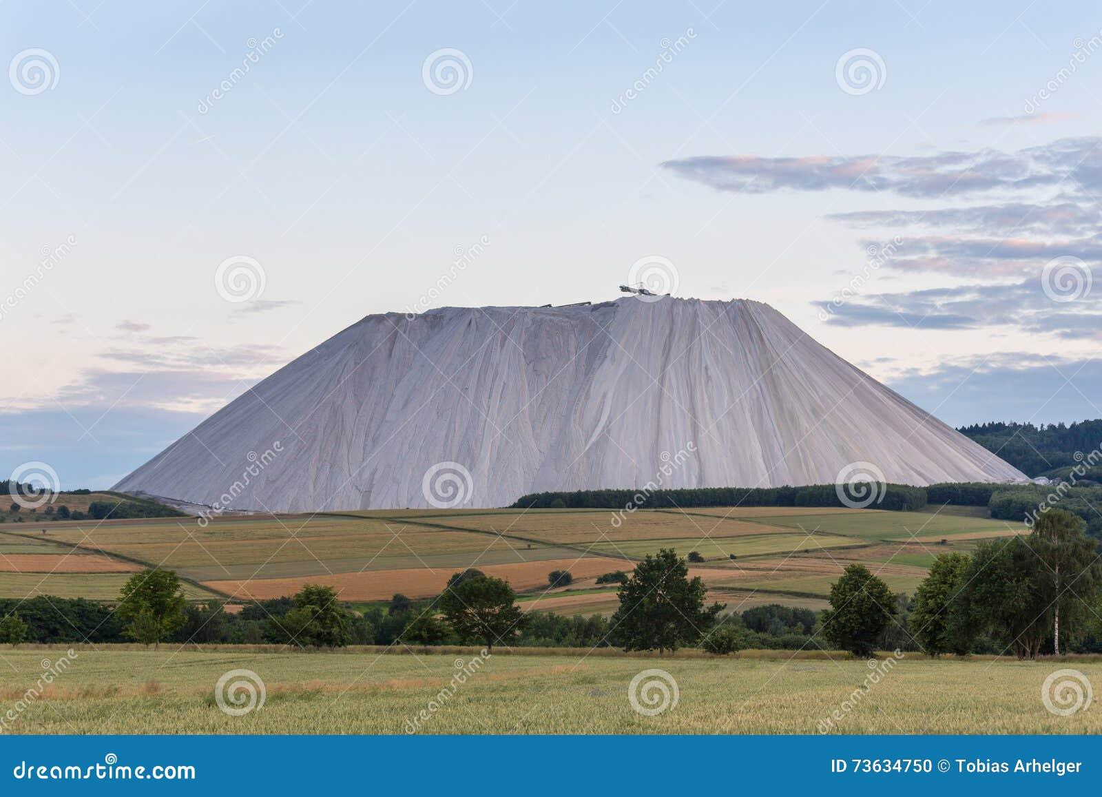 Amazing salt mountain in Germany