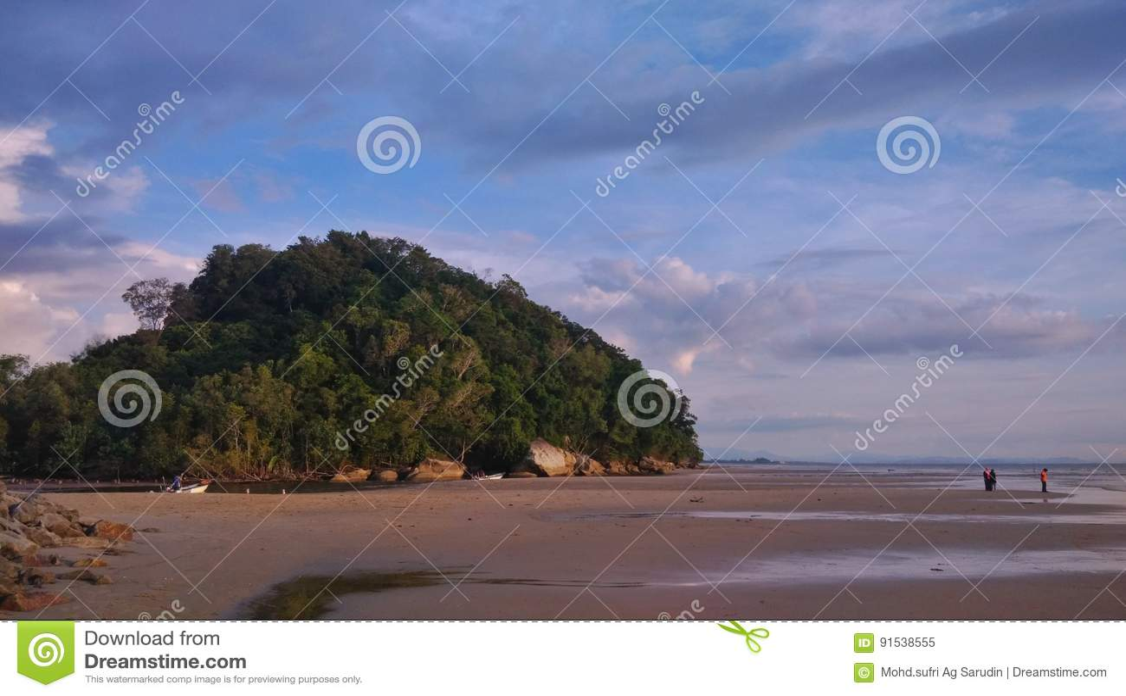 Monte na praia