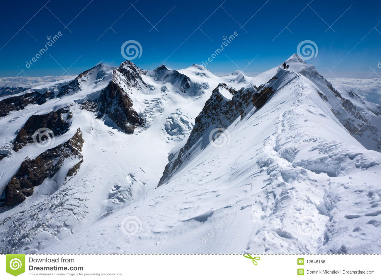 Monte rosa with swiss flag swiss alps stock image for Montre rosra