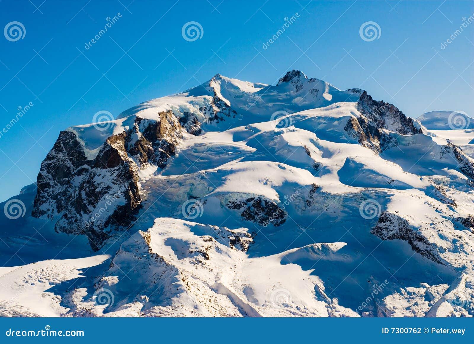 Download Monte Rosa fotografia stock. Immagine di paesaggio, switzerland - 7300762