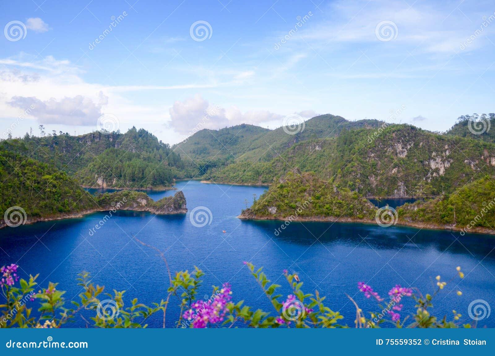 Montebello nationalpark, Chiapas stat, Mexico, Maj 25