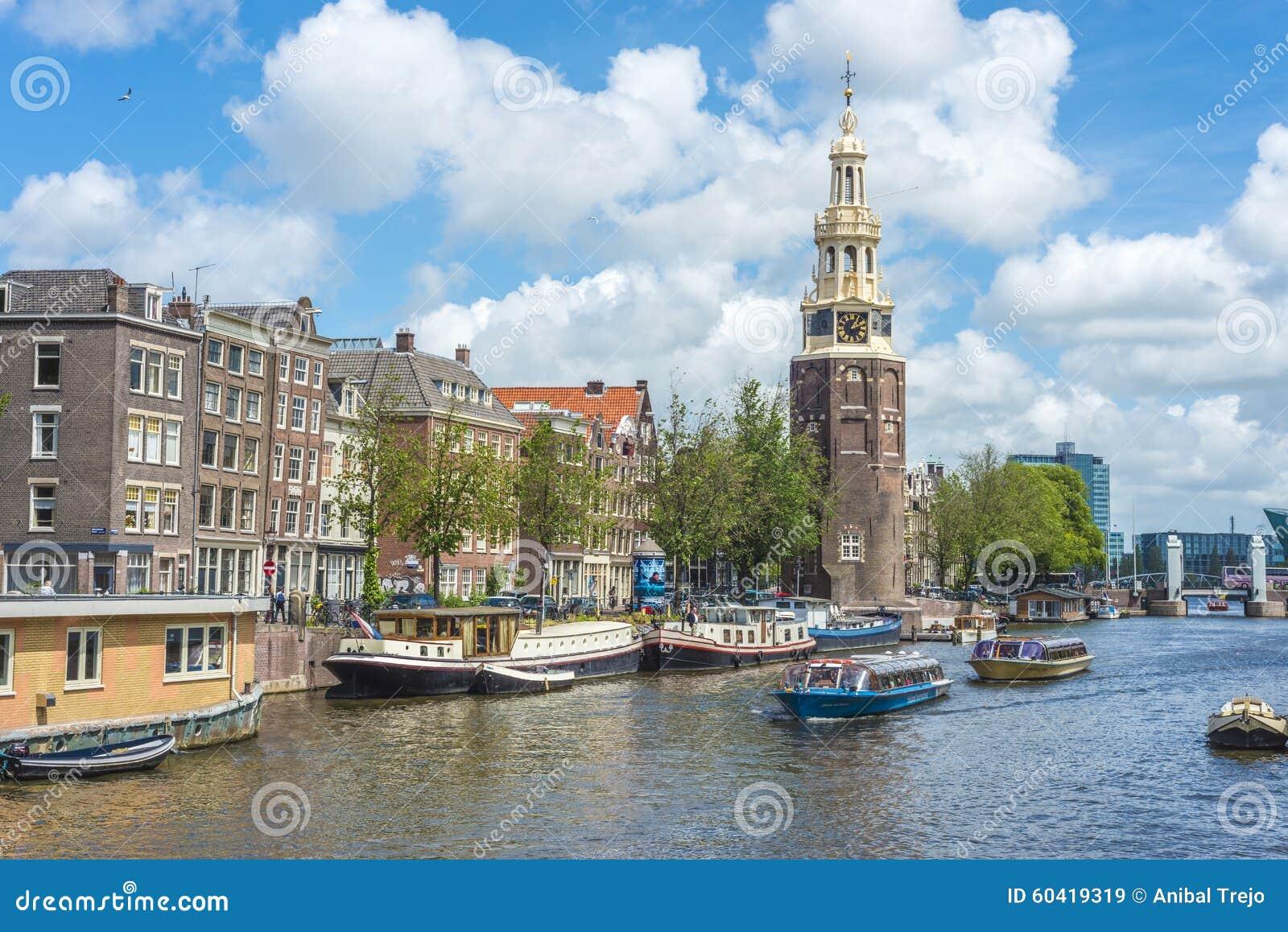 Montelbaanstoren塔在阿姆斯特丹,荷兰
