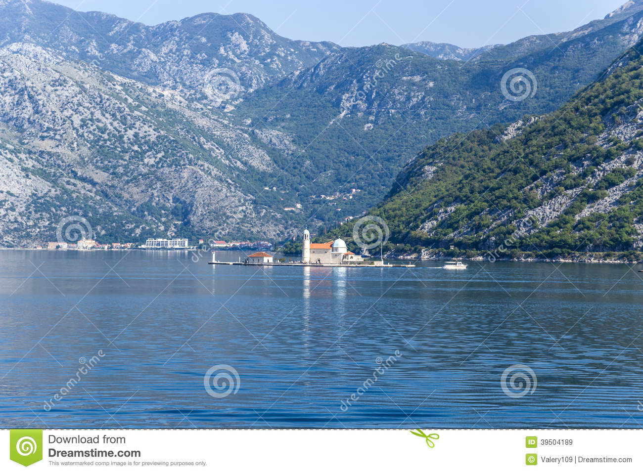Montenegro. Island of Our Lady on the rocks