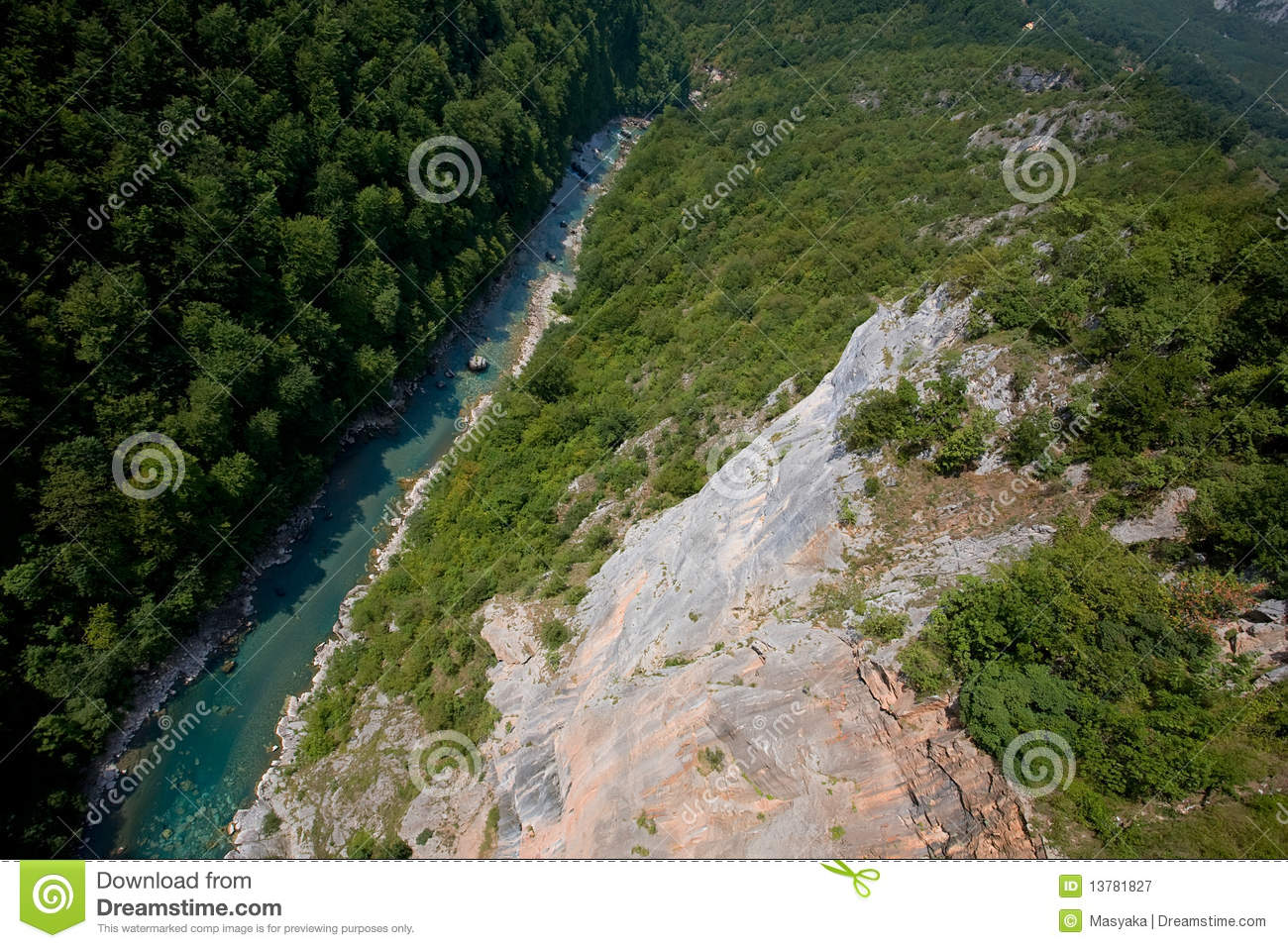 ... . Tara River Canyon Royalty Free Stock Photography - Image: 13781827