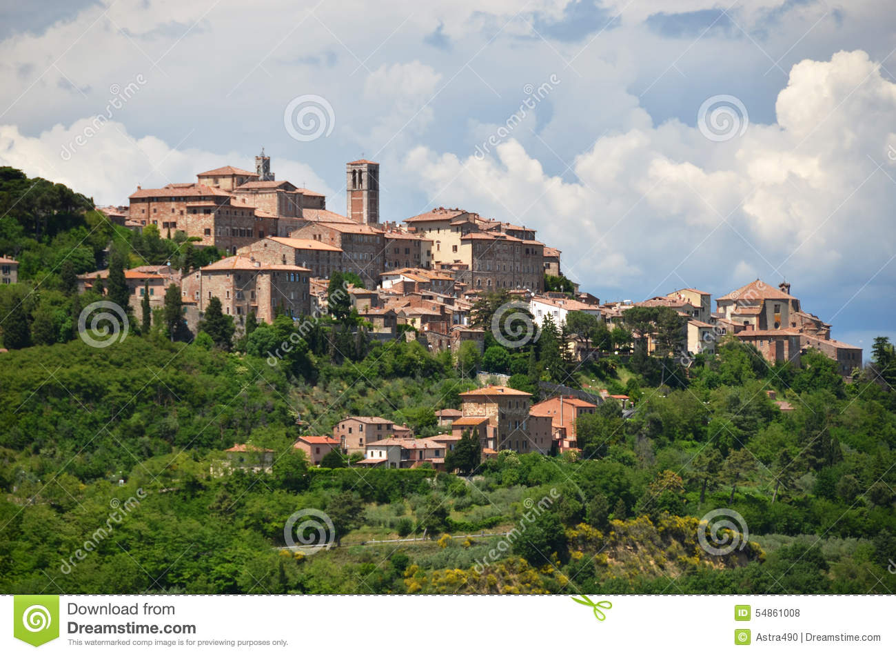 Montepulciano town, Italy