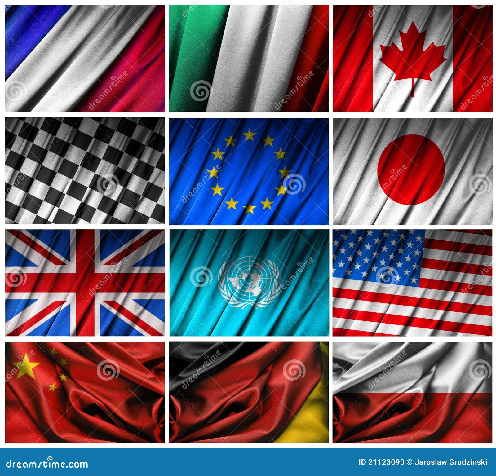 Monterande flaggor