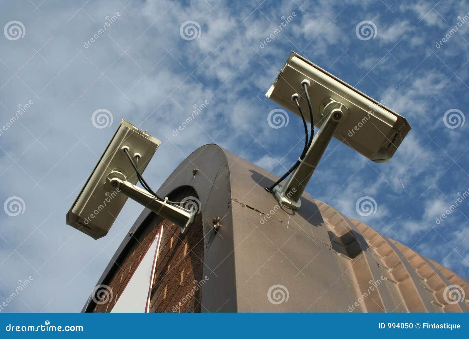 Monterat tak för kameror cctv