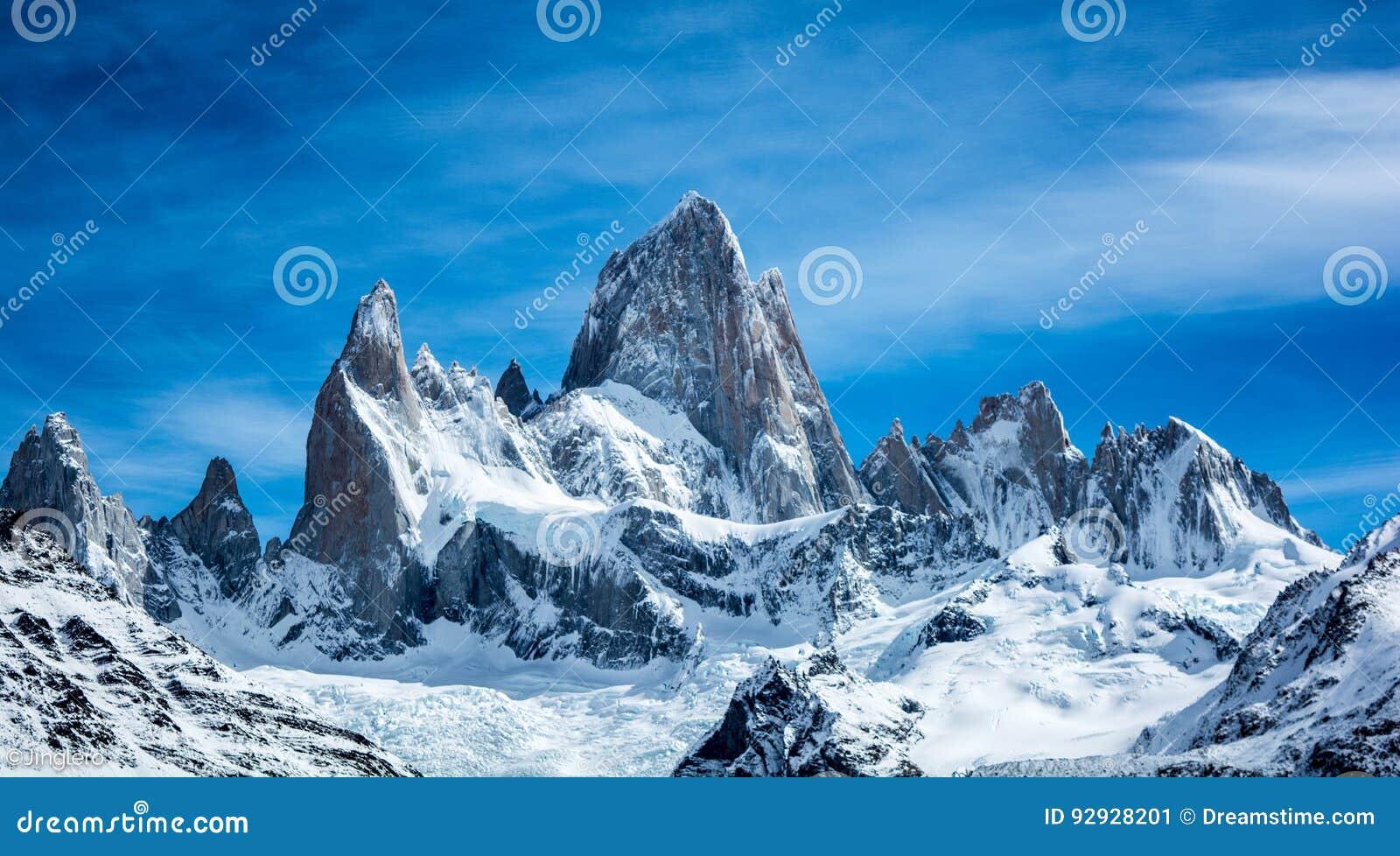 Montering Fitz Roy, El Chaltén, Santa Cruz, Patagonia, Argentina