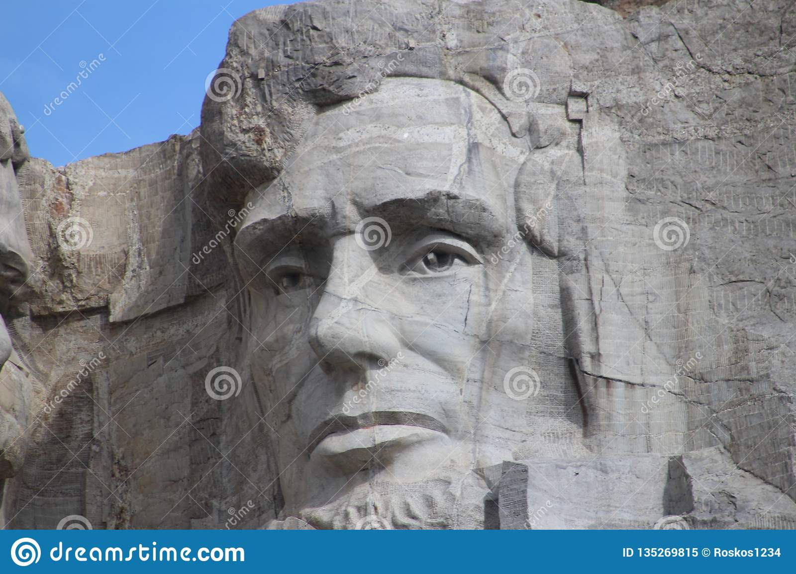 Montering Rushmore- Abraham Lincoln