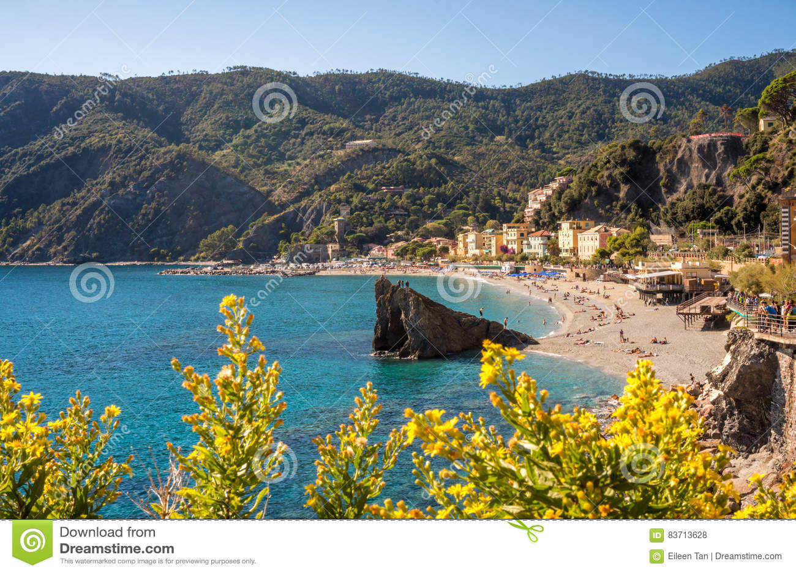 Monterosso Beach Editorial Stock Photo