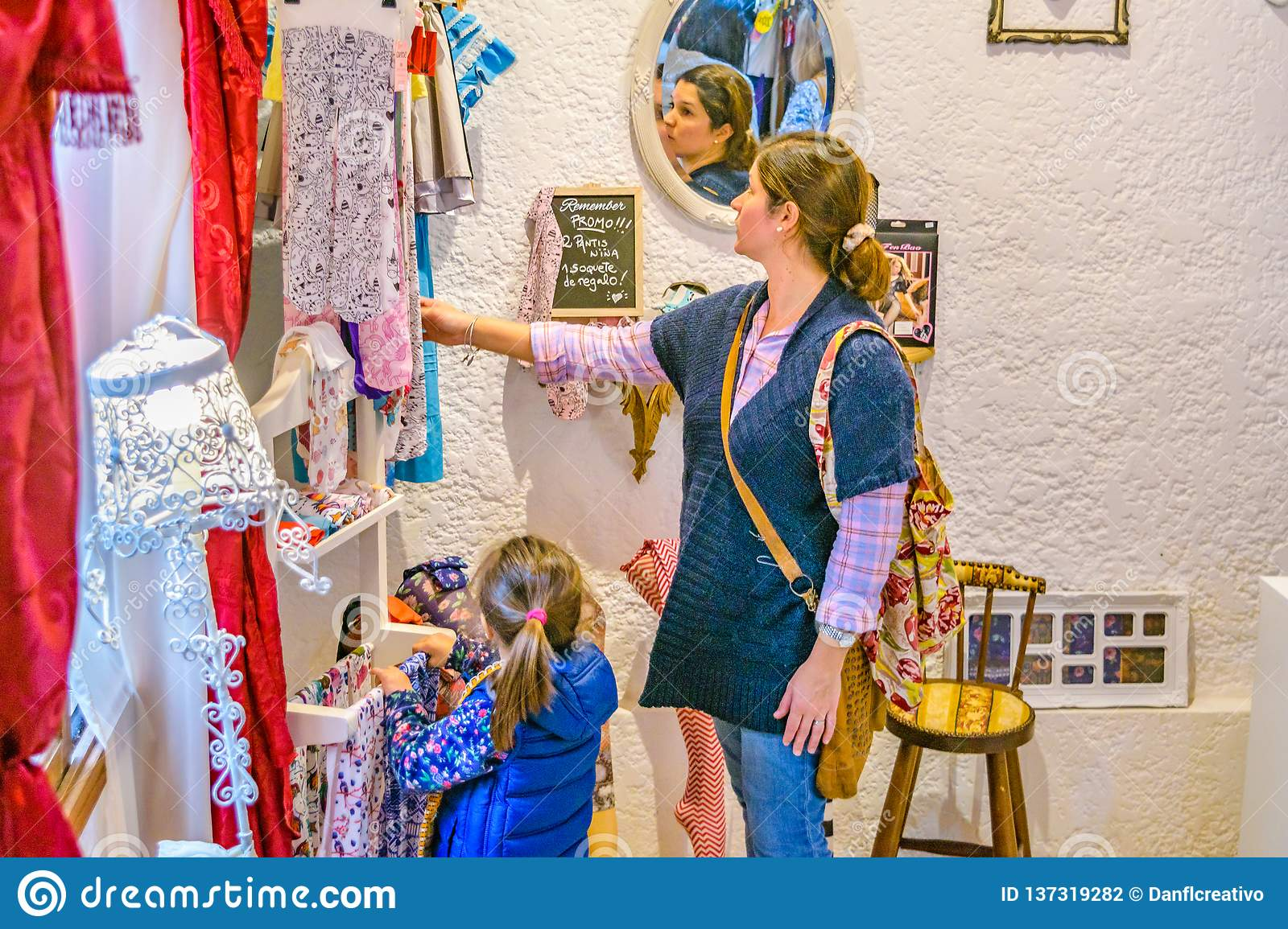 9d471db549ff5 Women At Small Clothing Store Boutique Editorial Photography - Image ...