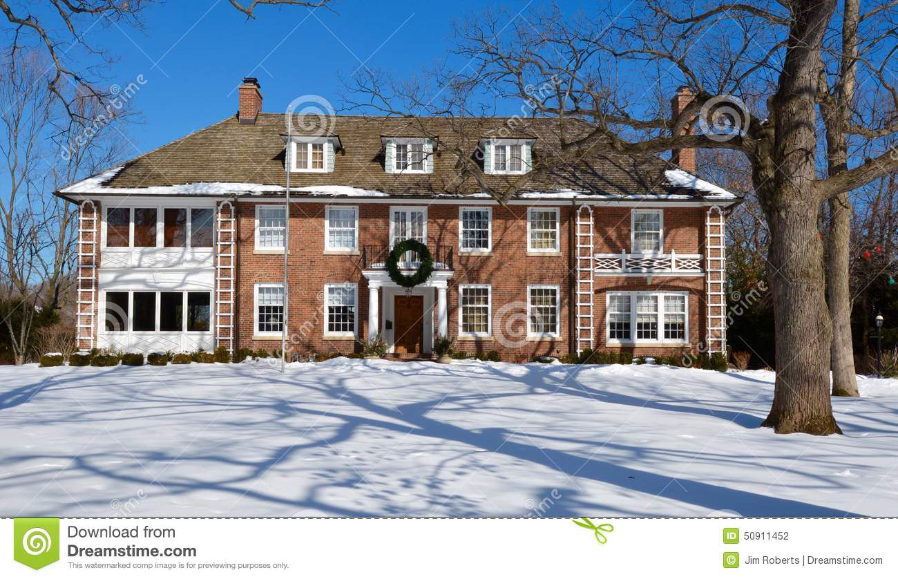 Montgomery House In Snow Editorial Photography Image