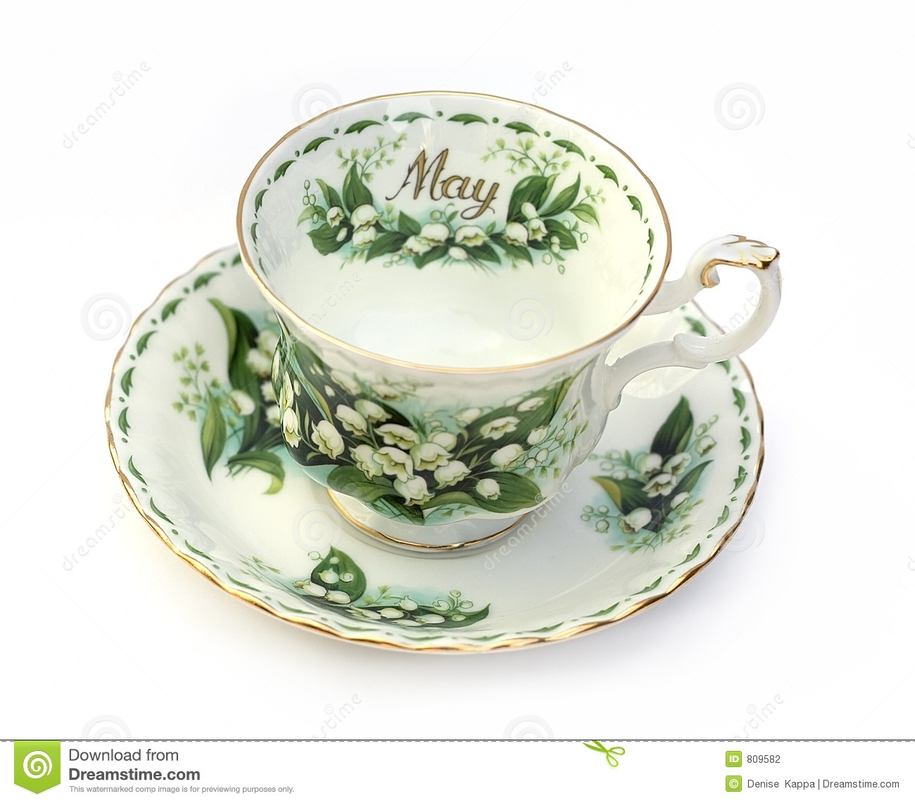 Month Of May Teacup Stock Photography Image 809582