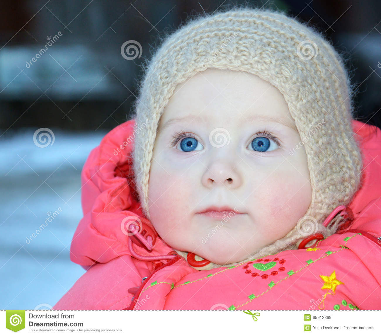 0c083a07eb22 10 Month Old Baby In Winter Clothes Stock Image - Image of chubby ...