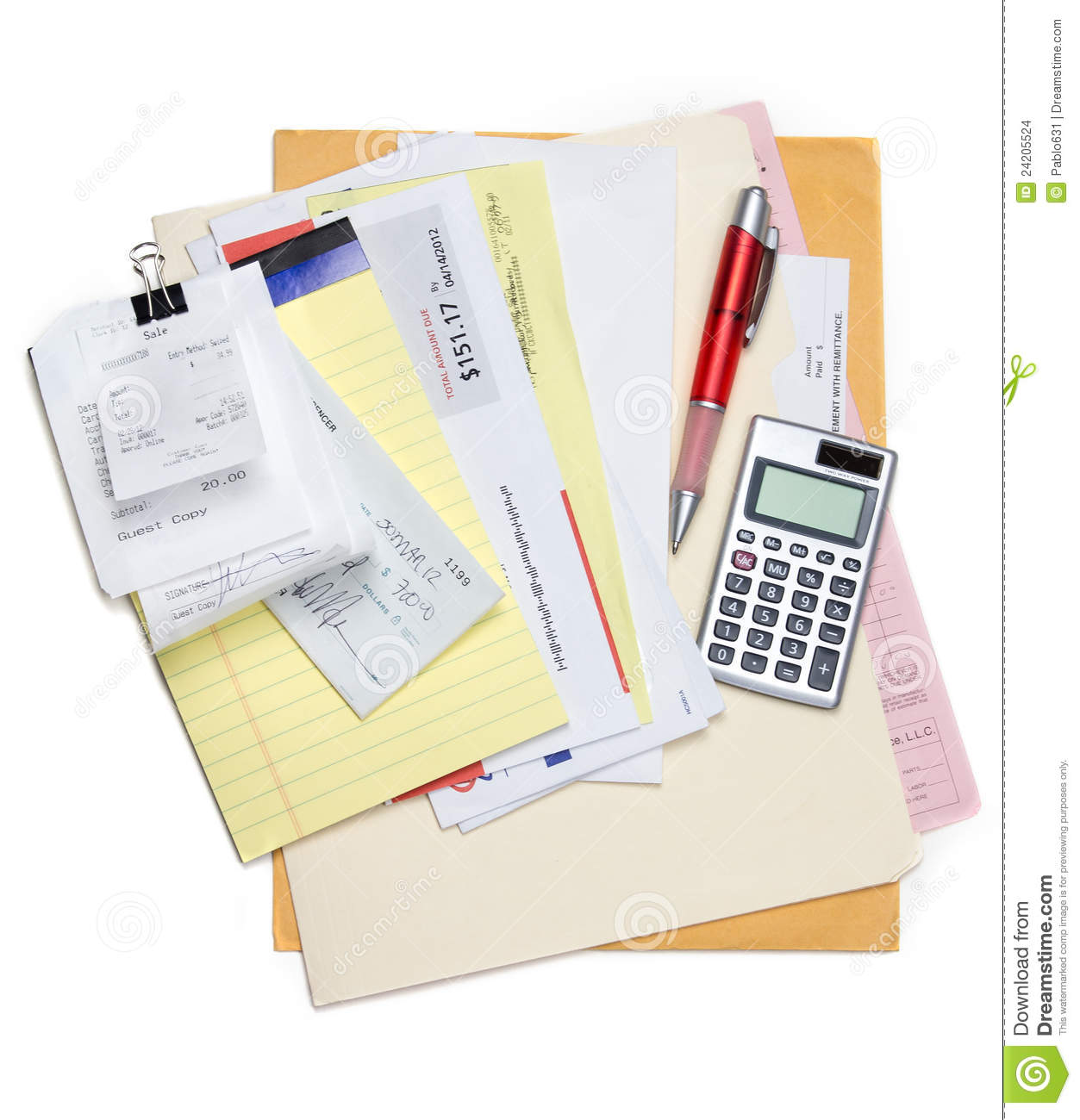 monthly bills stock photo  image of other  calculator