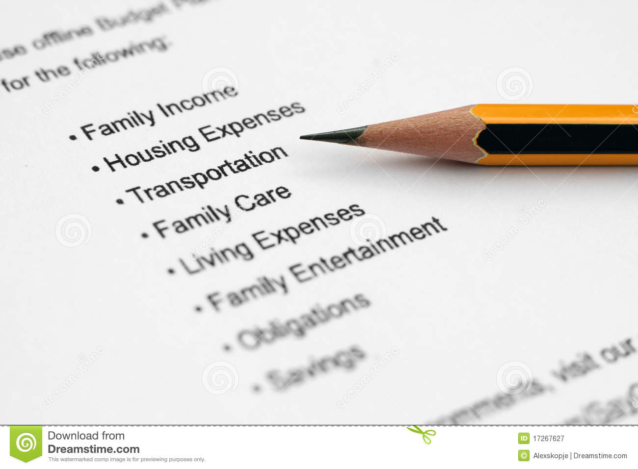 Economic House Plans Monthly Budget Plan Stock Image Image Of Home Account