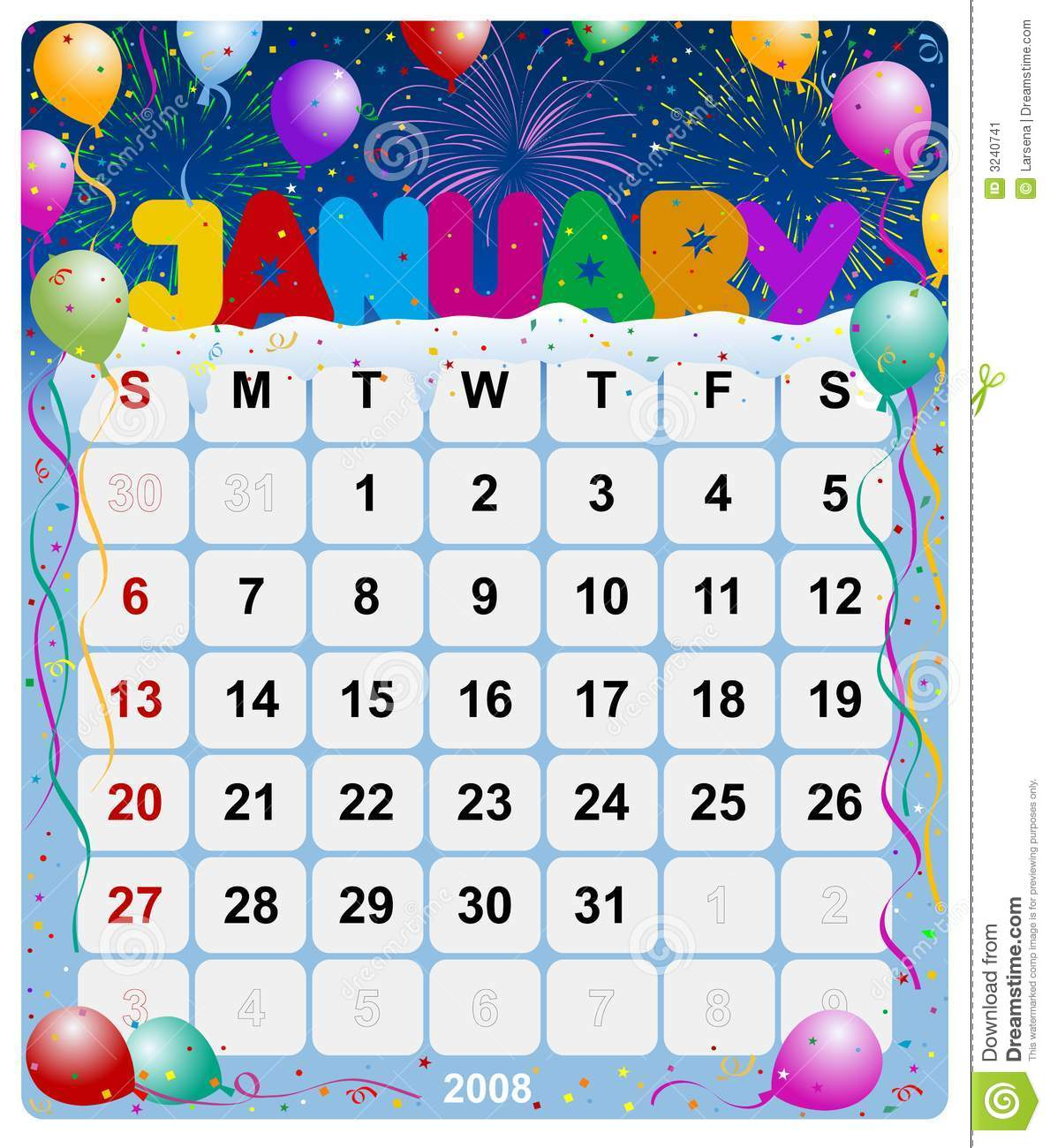 Xs Calendar April : Monthly calendar january stock image