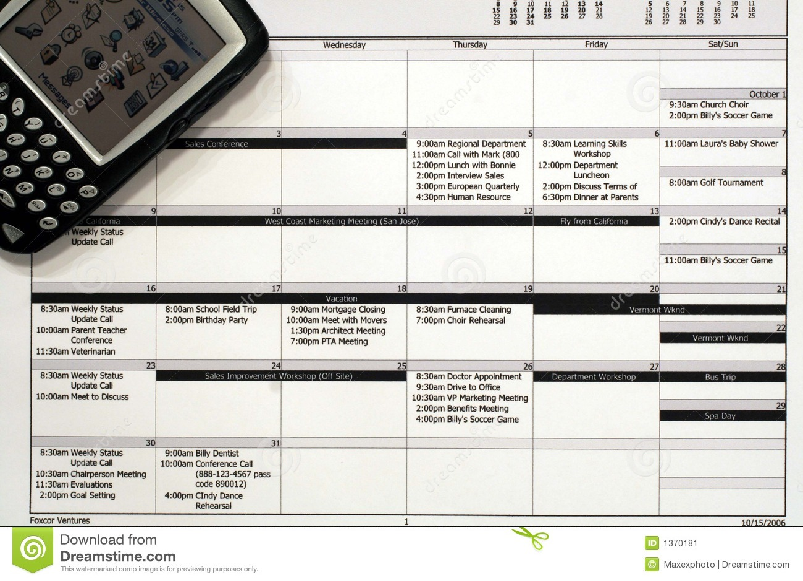Monthly Work Schedule PDA Image Image 1370181 – Work Schedule