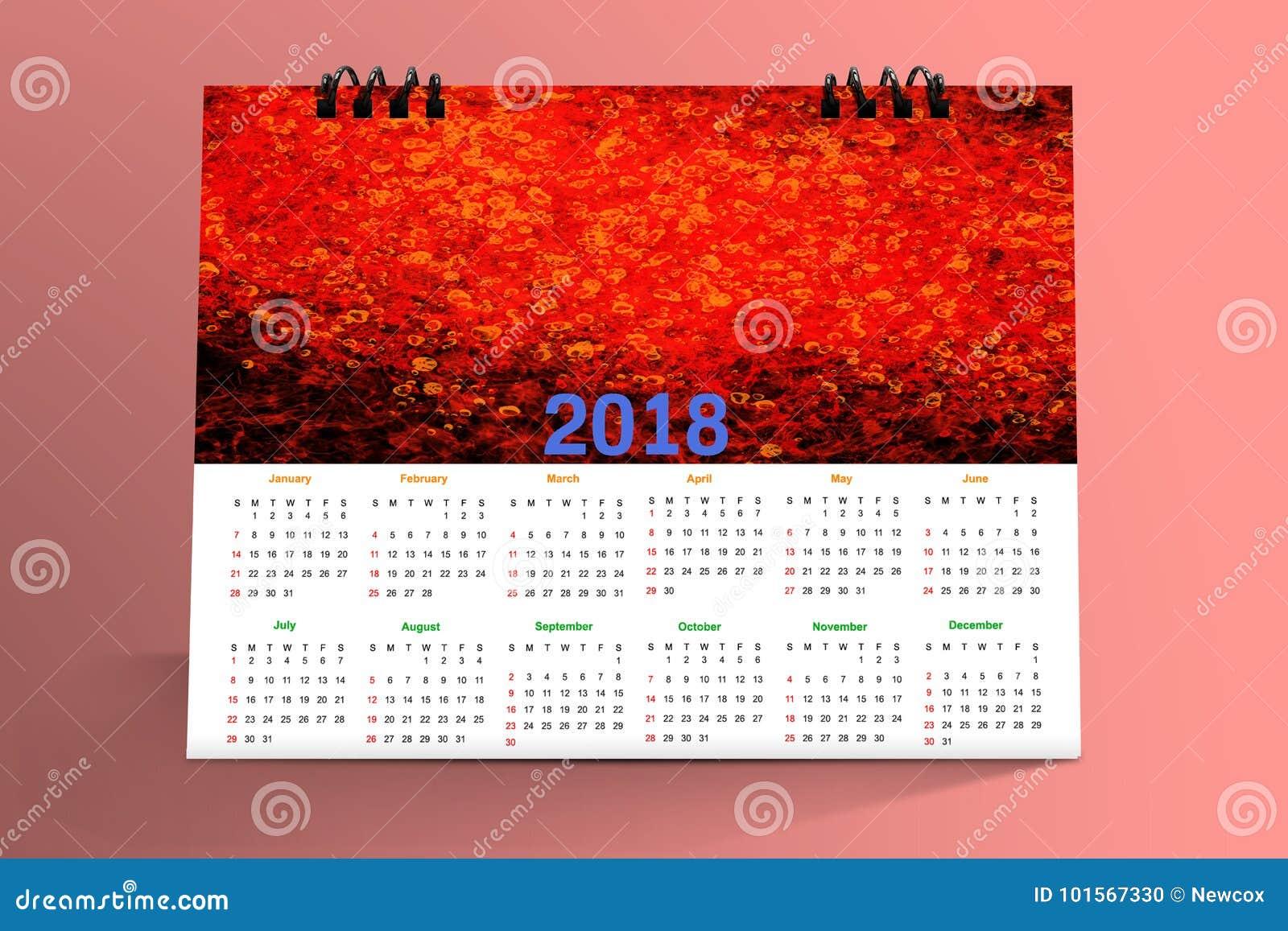 Desktop Calendar Design : Months desktop calendar design stock photo image