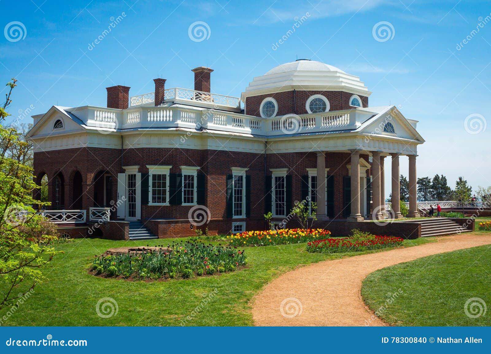 Monticello Thomas Jefferson S Home Stock Photo Image Of Columns