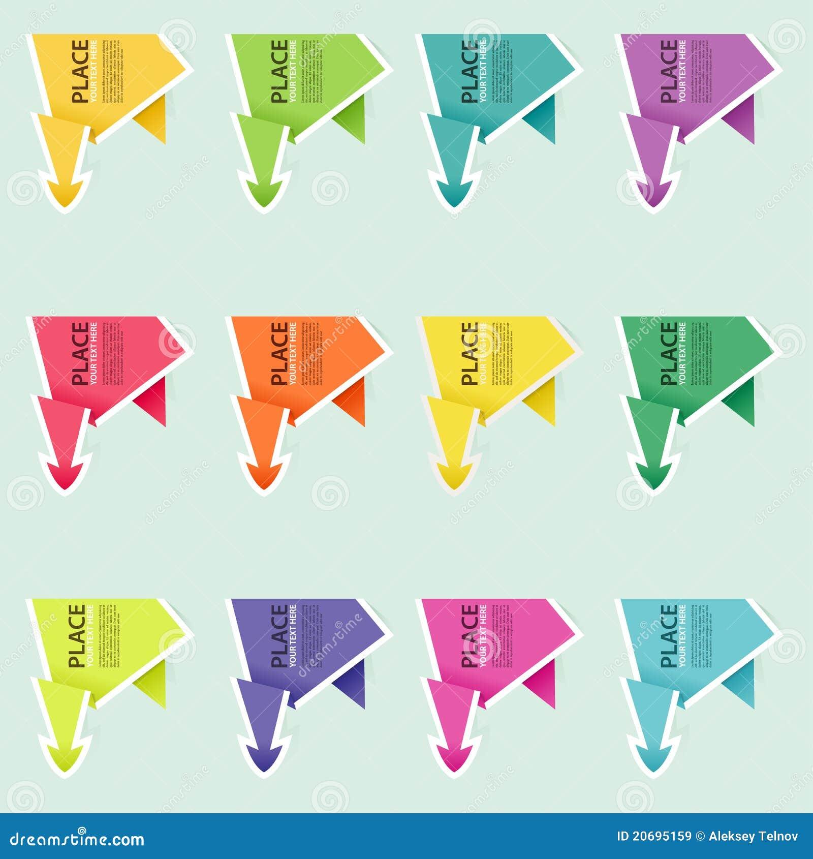 Montieren Sie PapierOrigami Pfeil