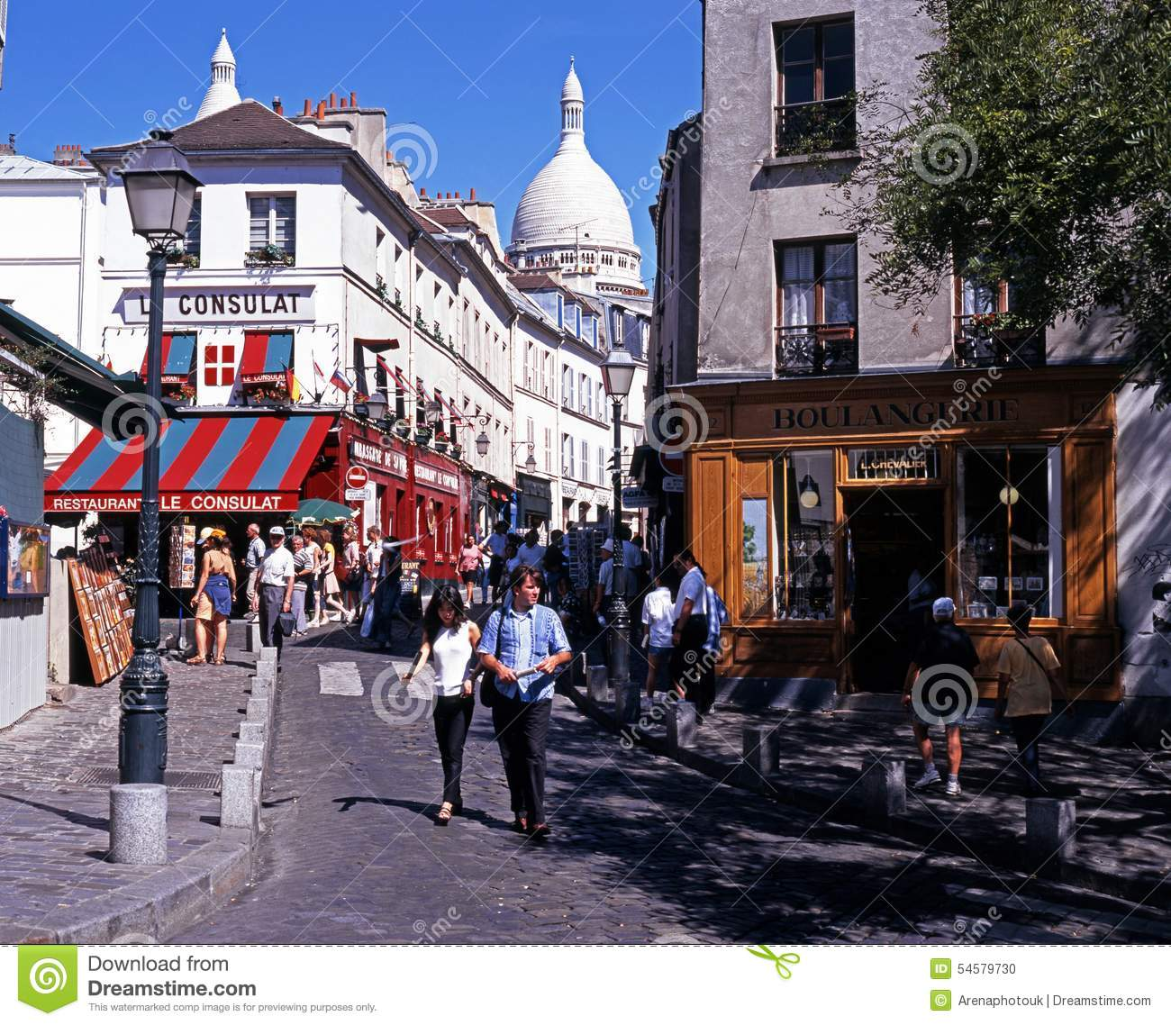 Montmartre District, Paris. Editorial Image