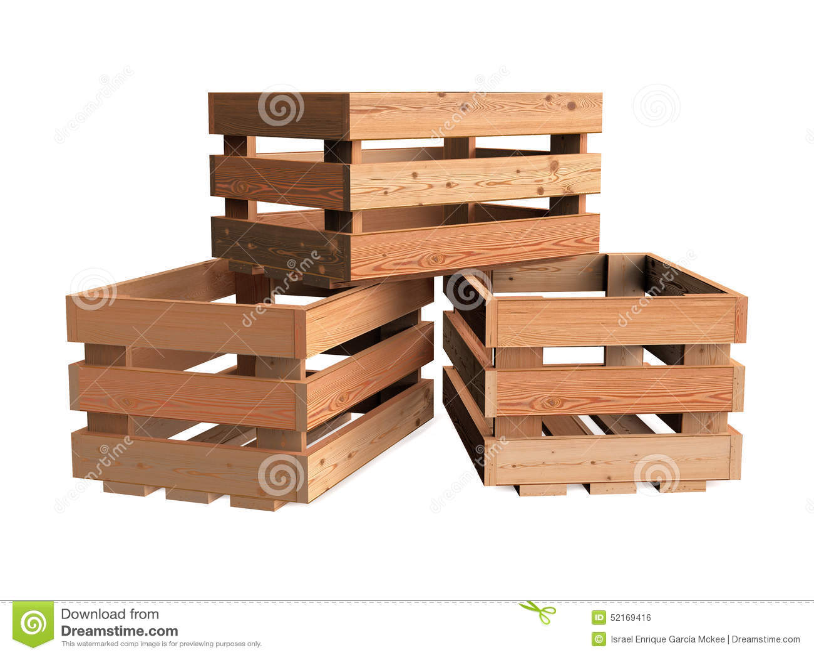 Mont n de cajones de madera stock de ilustraci n imagen 52169416 - Cajones de fruta de madera ...