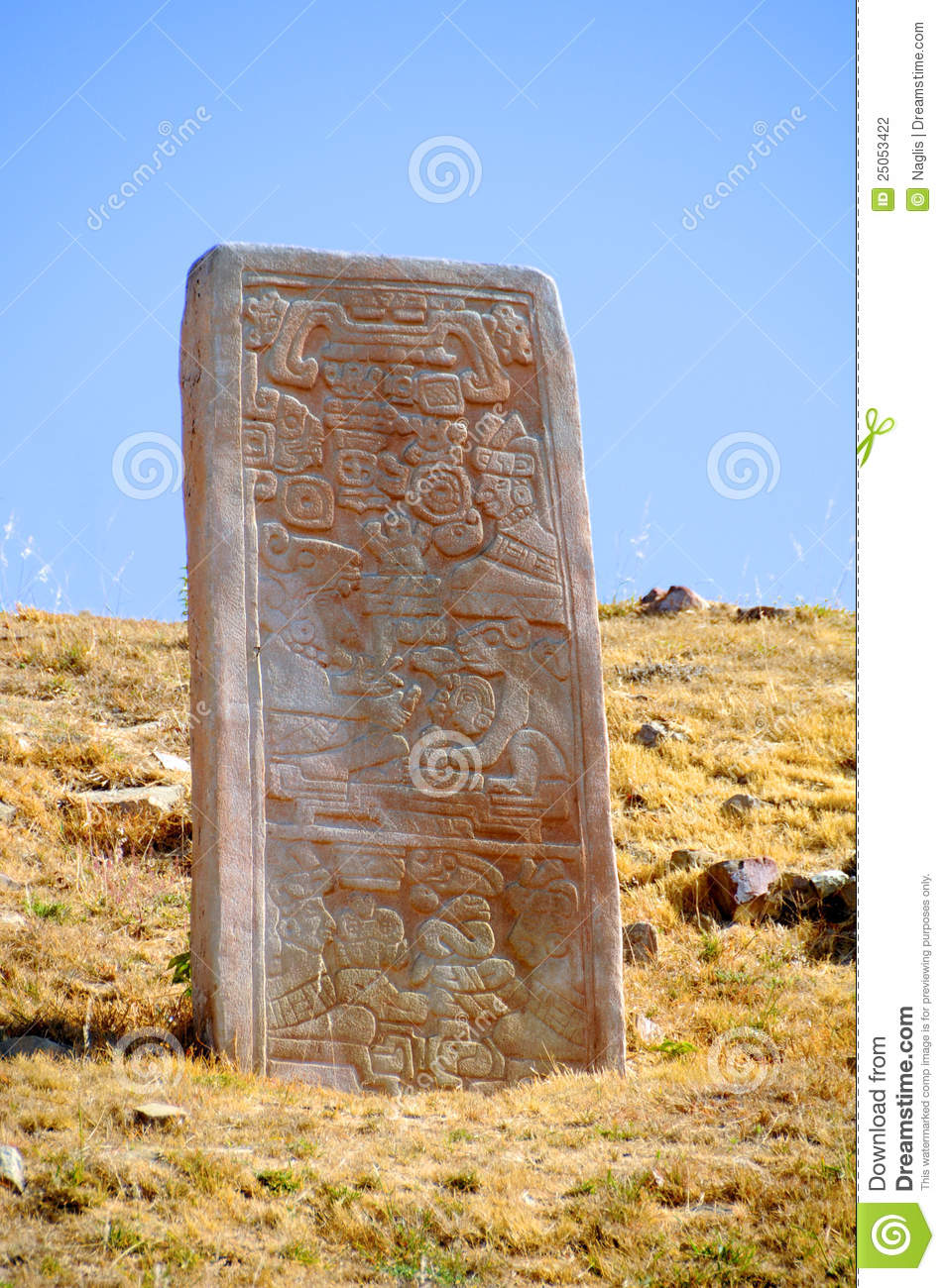 Montre alban stelae stock photography image