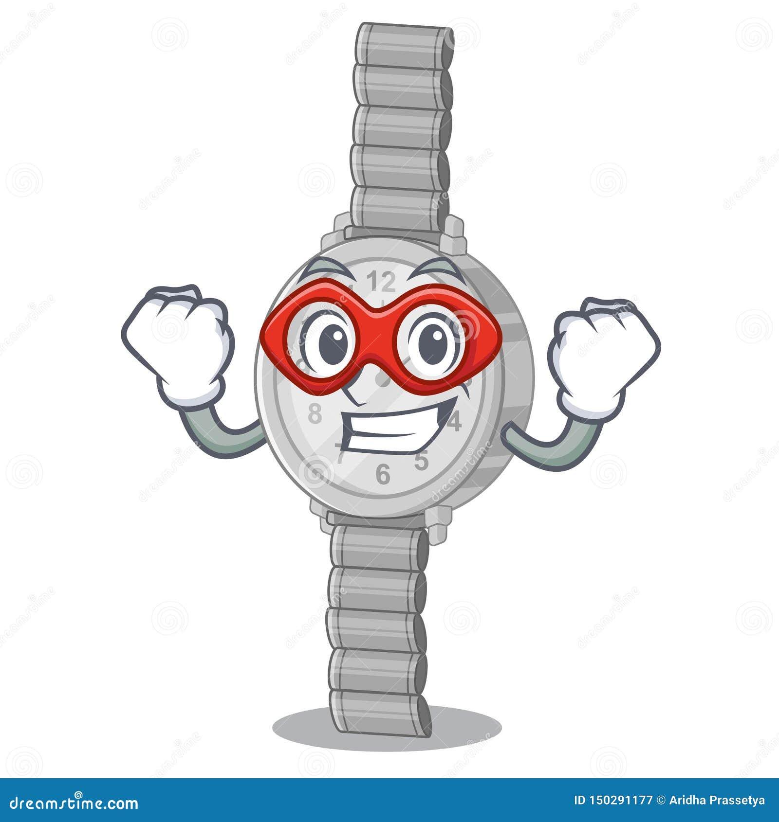 Montre-bracelet de superhéros dans la forme de caractère d a