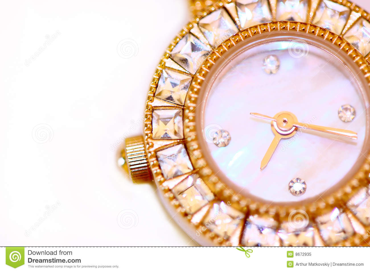 Montre d or de diamants
