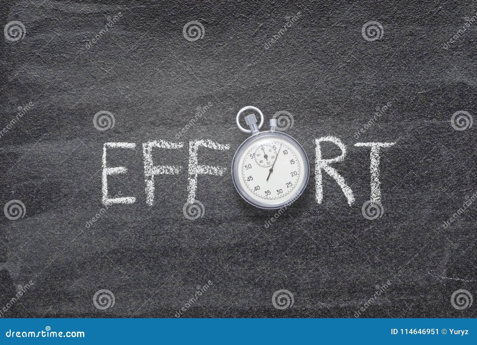 Montre de mot d effort