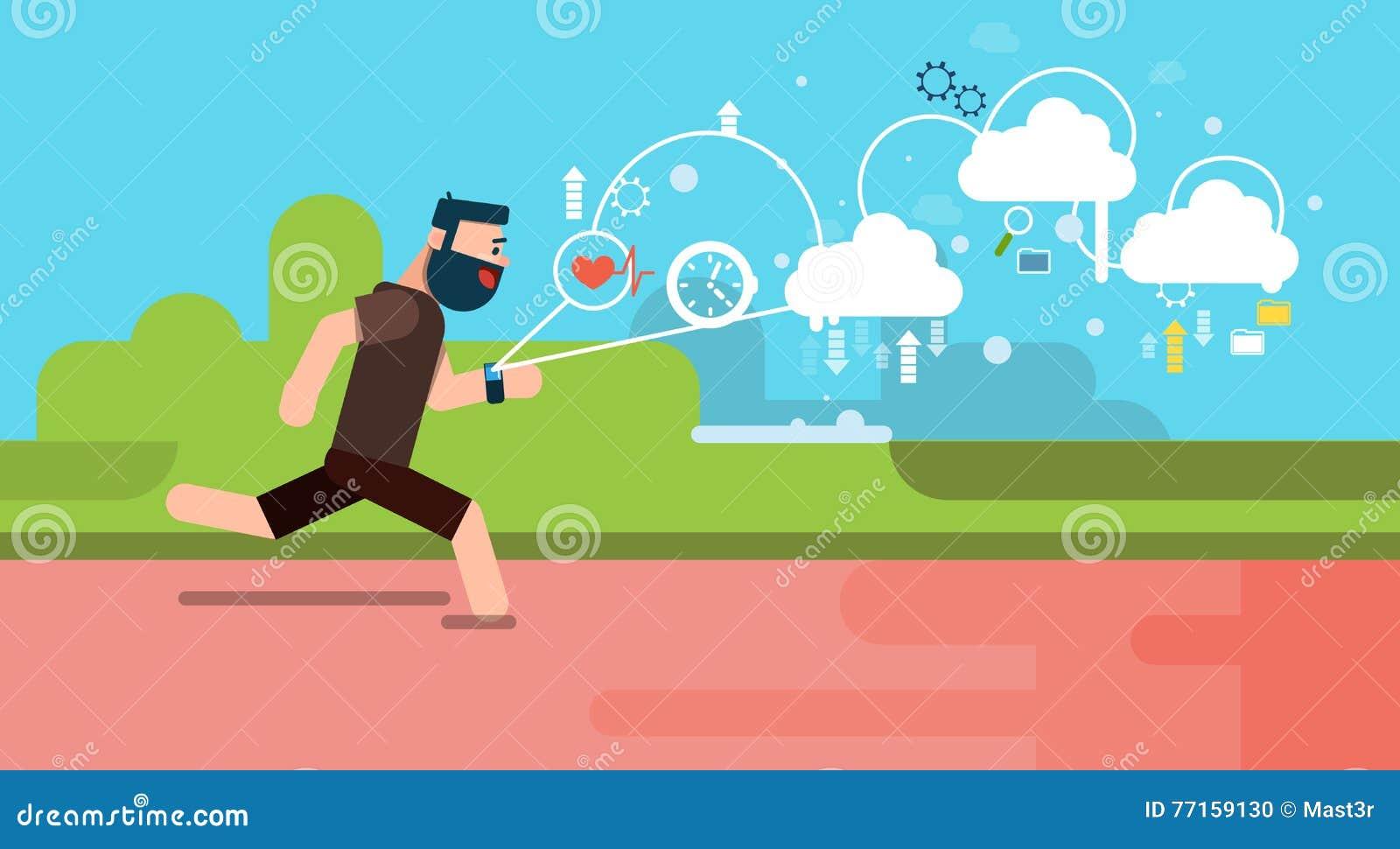 Montre intelligente de technologies portables de traqueur de la forme physique APP de course d homme plate