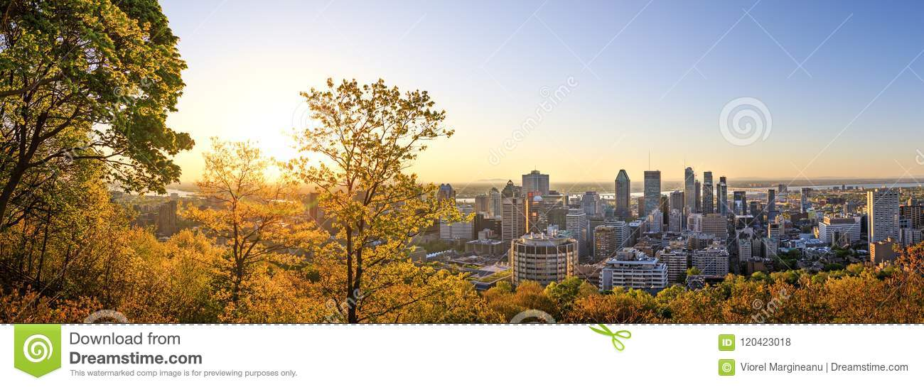 Montreal, Canada – 21 May 2018. Beautiful golden sunrise over