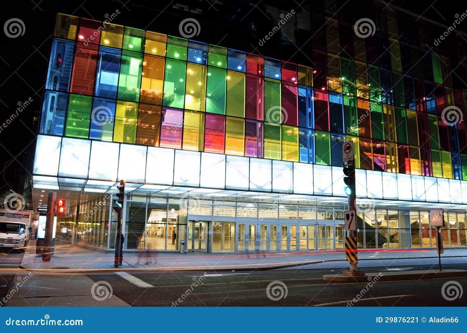 Centre Commercial Palais Des Congrès montreal convention centre, canada editorial photo - image of quebec