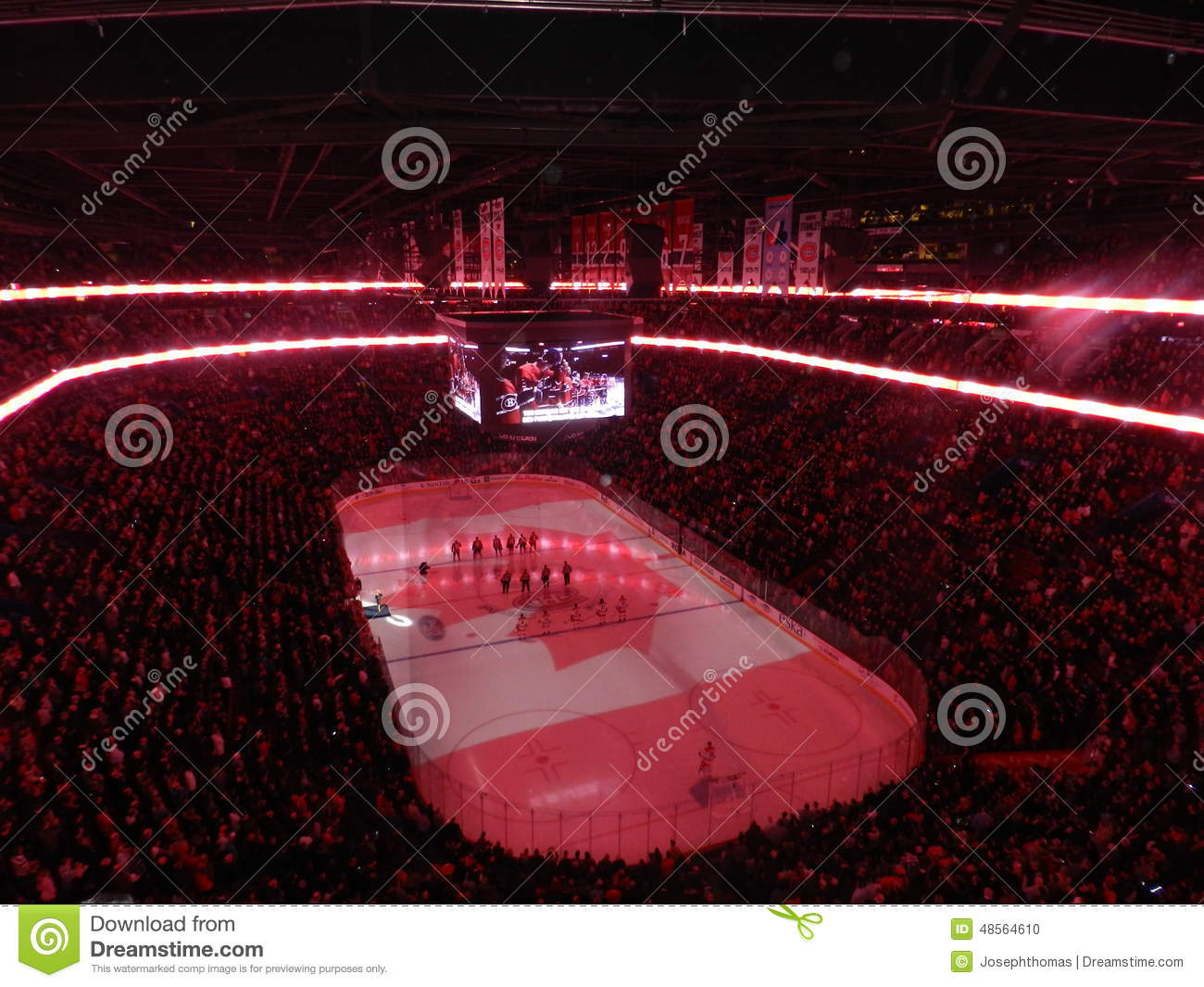 Nhl Hockey Professional Sports Montreal Canada Home Of The Canadiens Habs Playing In The Centre Bell Center Canada Flag Stock Photo 48564610 Megapixl