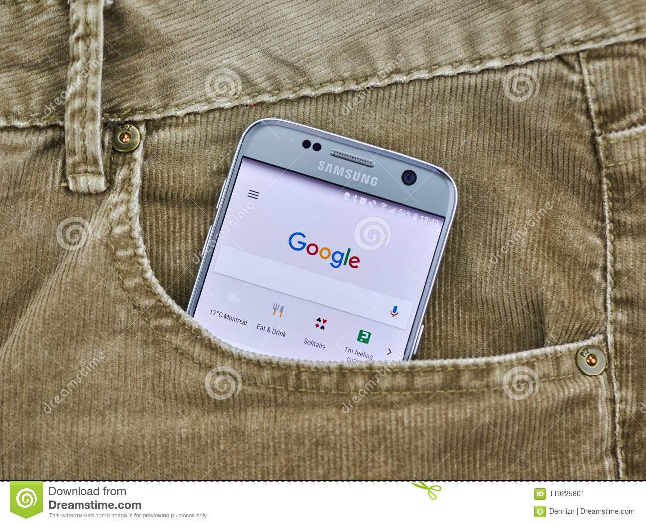 Google Search On Mobile Phone  Editorial Photo - Image of