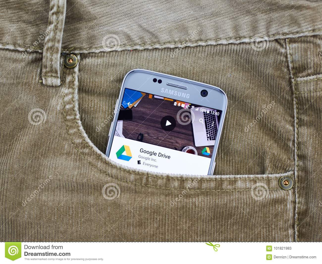 Google Drive Mobile Application  Editorial Stock Photo - Image of