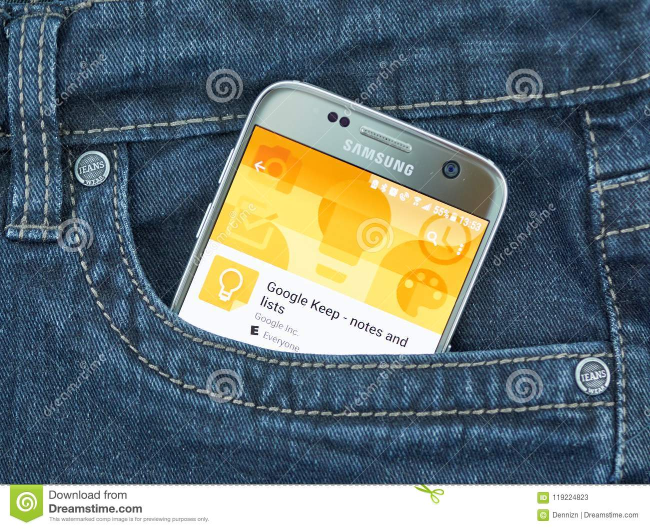 Google Keep Mobile Application  Editorial Stock Photo - Image of