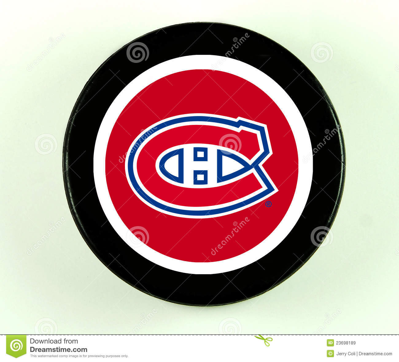Montreal canadiens hockey puck editorial stock image - Canadiens hockey logo ...
