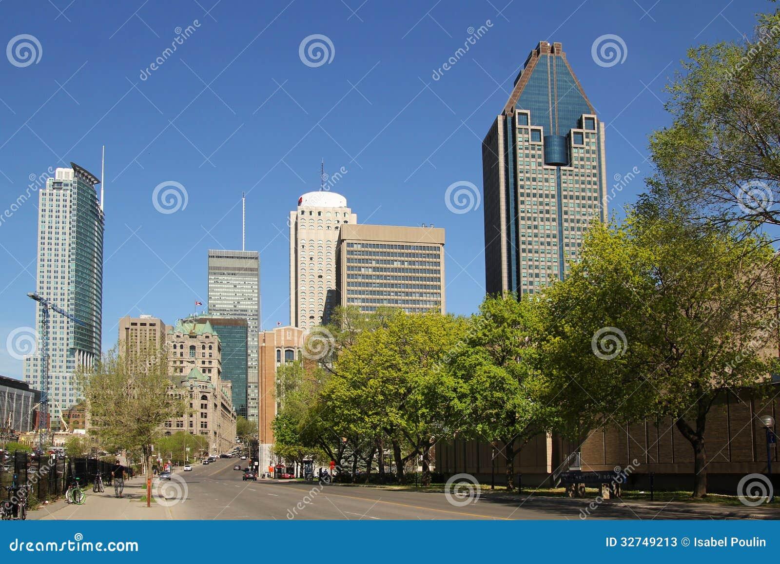 Montreal de stad in