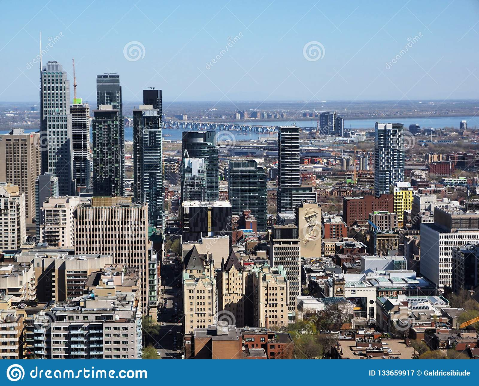 Montreal downtown from Mont Royal
