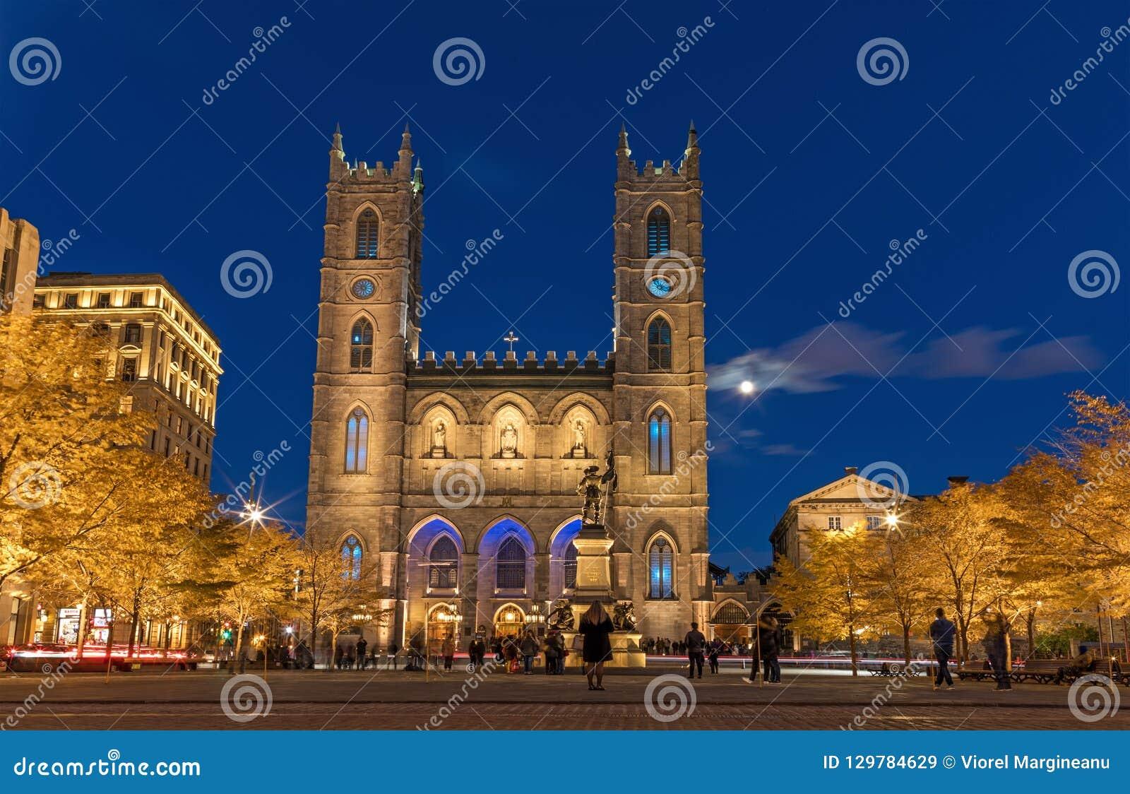 Montreal, Kanada, am 20. Oktober 2018 Notre Dame Basilica von Montag