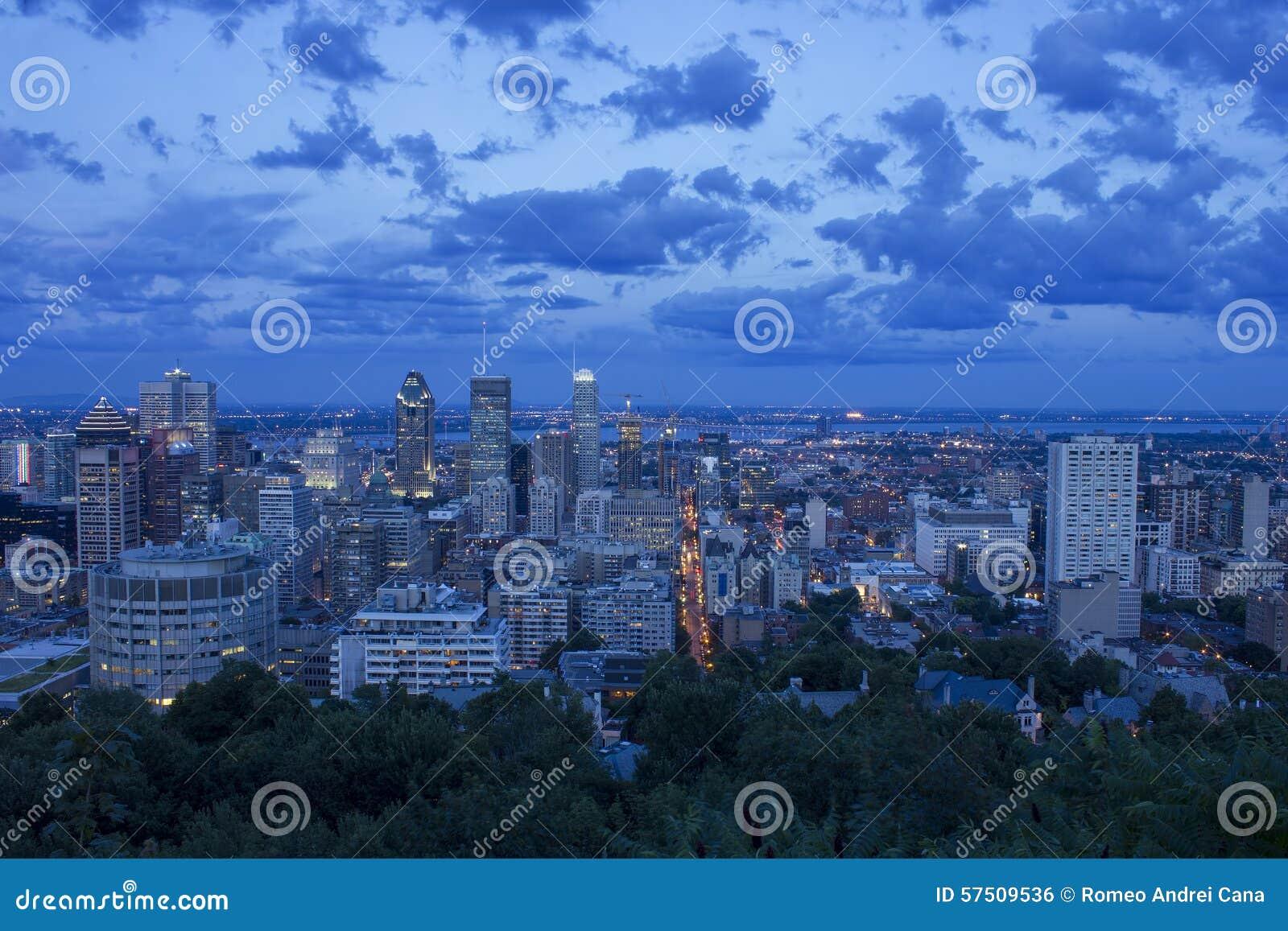 Montreal linia horyzontu Po zmierzchu