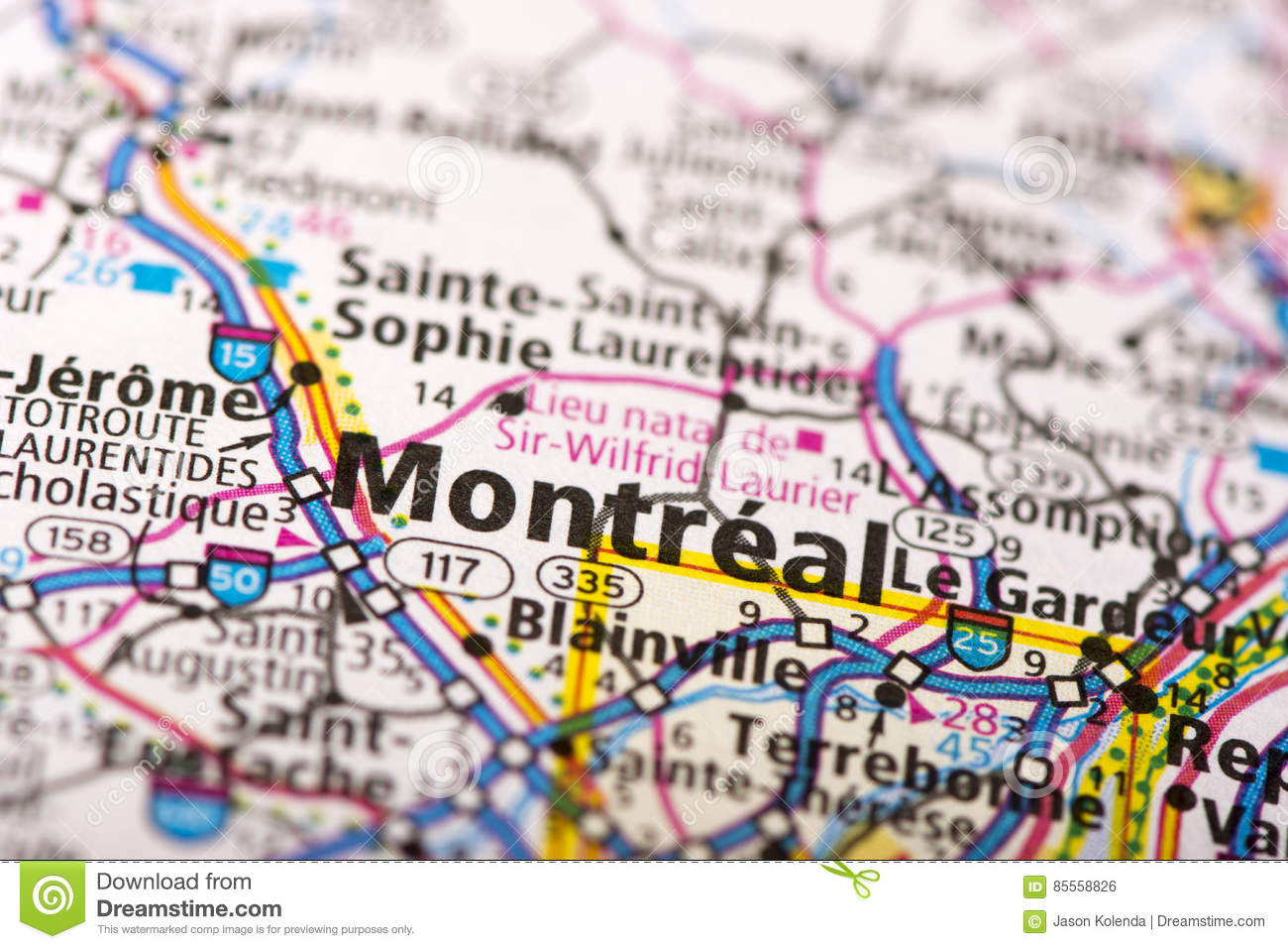 Quebec Montreal Map on
