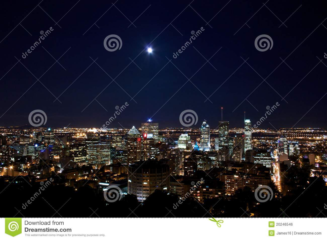Montreal by Moon light