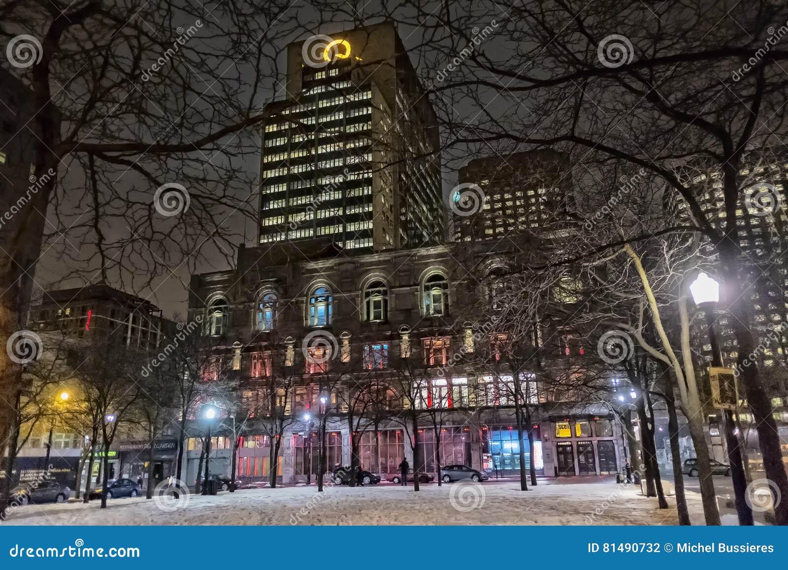 Montreal night scene