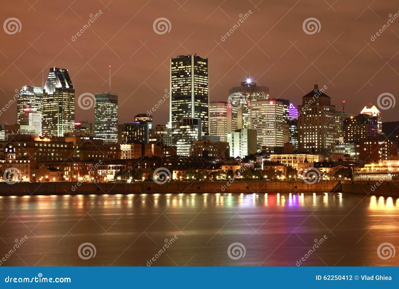 Montreal noc linia horyzontu