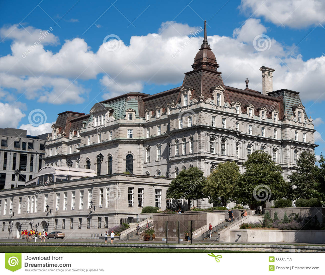 Montreal City Hall Canada: Montreal Old City Hall. Editorial Stock Image. Image Of